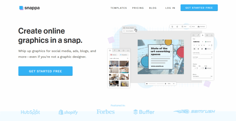 Snappa Create online graphics in a snap