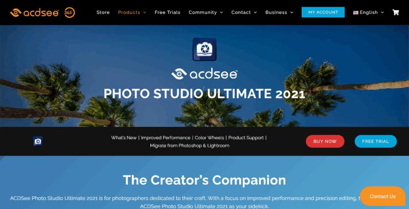 ACDSee Photo Studio Ultimate The Creator's Companion