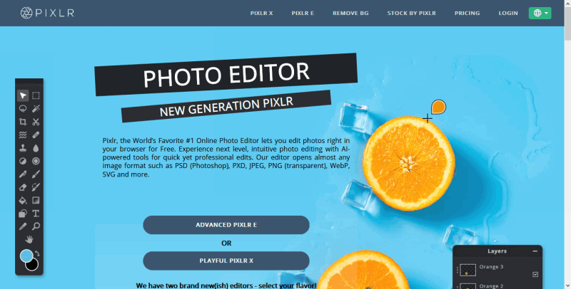 Photo editor online Pixlr com