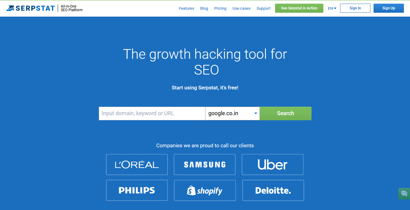 Serpstat — Growth hacking tool for SEO, PPC and content marketing