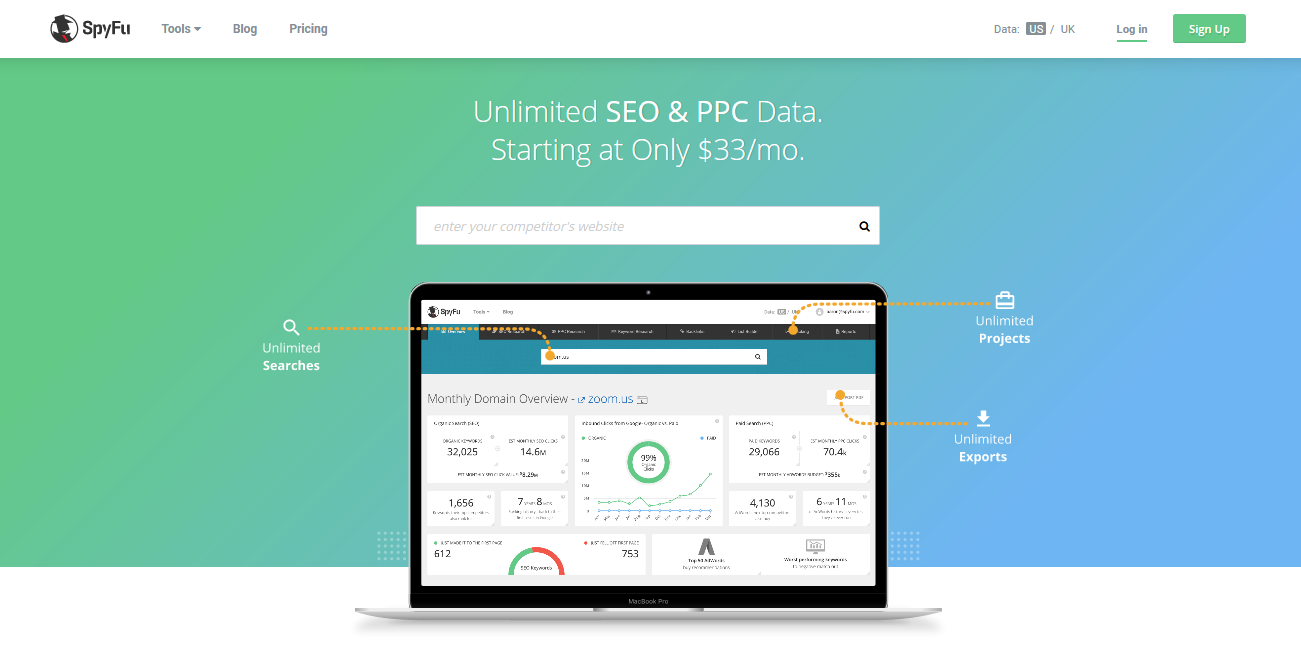 SpyFu - Competitor Keyword Research Tools for AdWords PPC SEO
