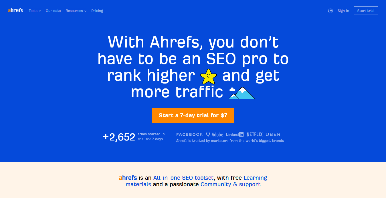 Ahrefs - SEO Tools Resources To Grow Your Search Traffic