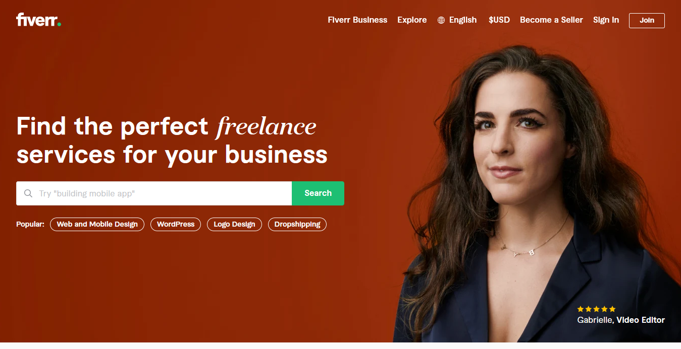 Get Everything You Need Starting at $5 - Fiverr