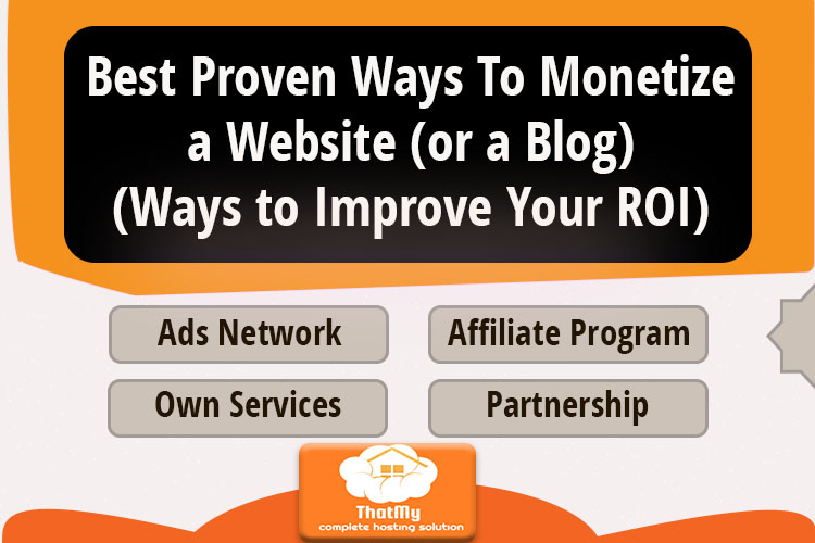 Best Proven Ways To Monetize a Website (or a Blog)(Ways to Improve Your ROI)