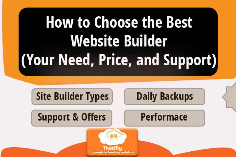 How to Choose the Best Website Builder(Your Need, Price, and Support)