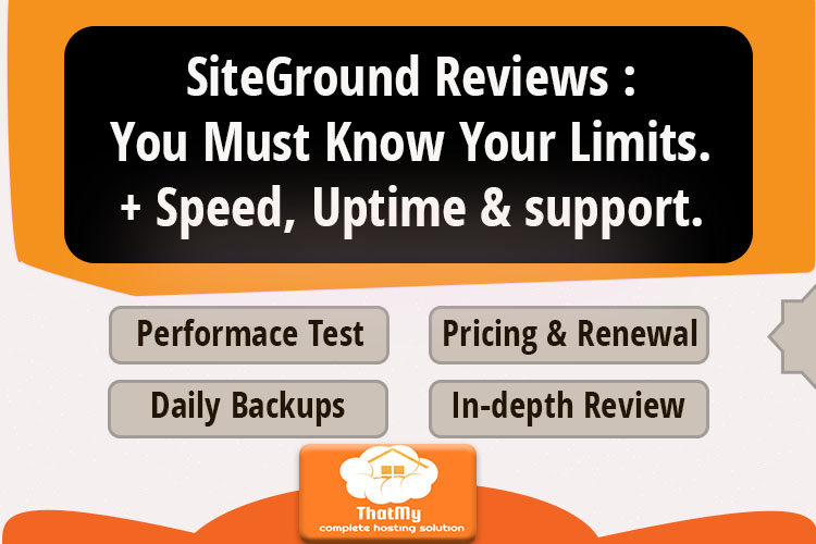 SiteGround Review: When (& When not) To Use It.+ Speed, Uptime & support.